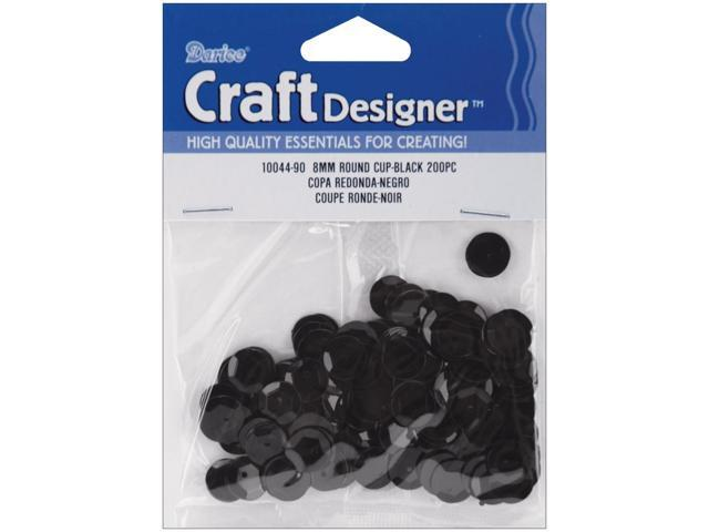 Cupped Sequins 8mm 200/Pkg-Black
