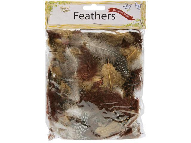 Dyed Guinea Feathers 7g-Natural