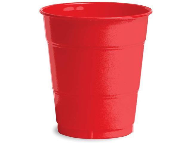 Plastic Cups 12oz 20/Pkg-Classic Red