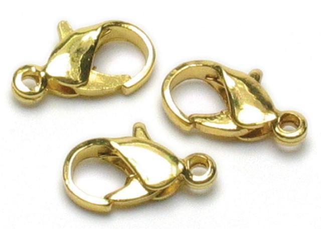 Jewelry Basics 7mmx9mm Lobster Claws 24/Pkg-Gold