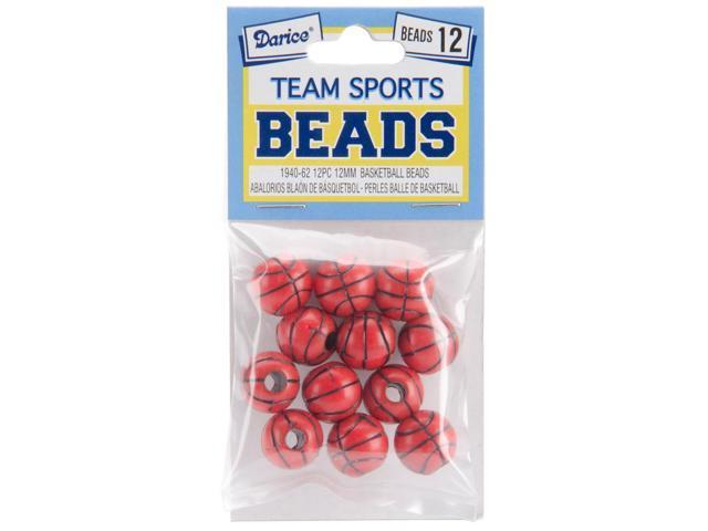 Team Sports Beads 12mm-Basketball 12/Pkg