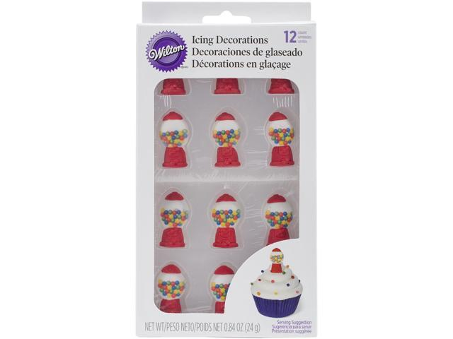 Royal Icing Decorations 12/Pkg-Gumball Machines