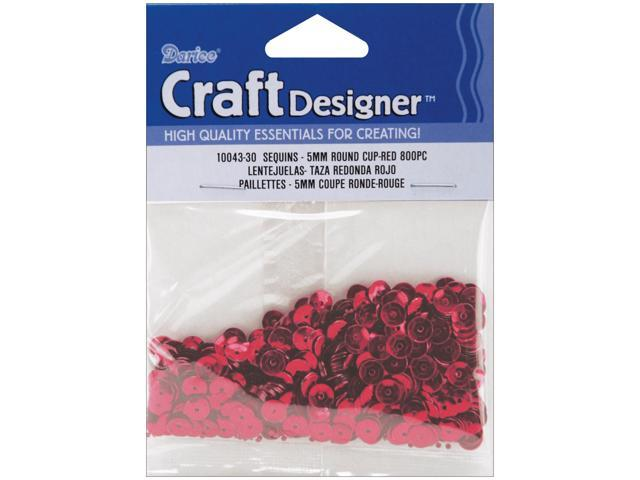 Cupped Sequins 5mm 800/Pkg-Red