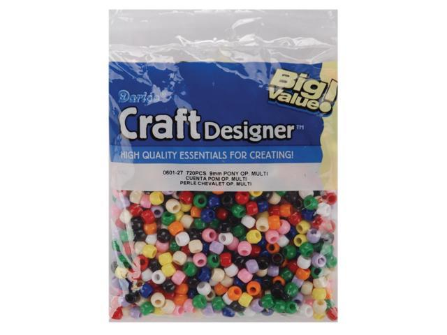 Pony Beads 6mmX9mm 720/Pkg-Opaque Multicolor
