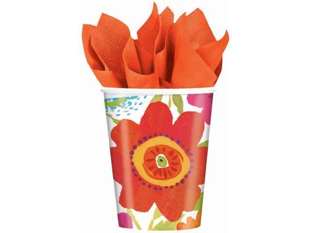 Paper Cups 9oz 8/Pkg-Floral Splash