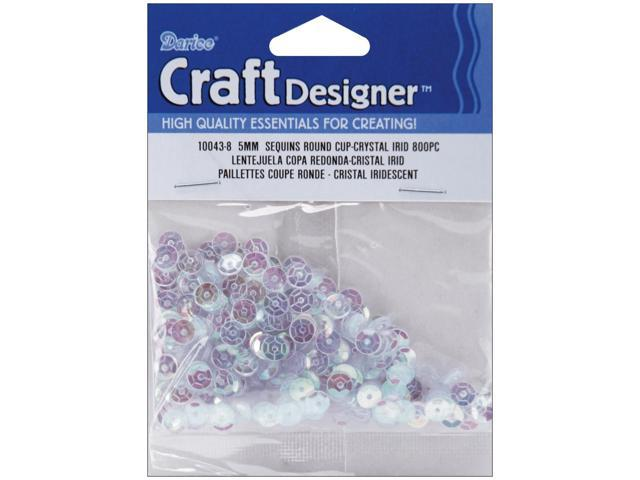 Cupped Sequins 5mm 800/Pkg-Crystal Iridescent
