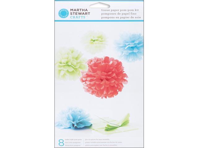 Modern Festive Tissue Paper Pom-Pom Kit Makes 8-
