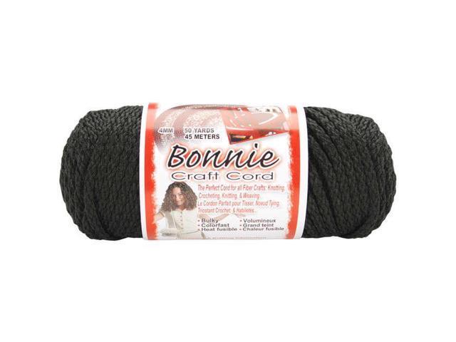 Bonnie Macrame Craft Cord 4mmX50yd-Black