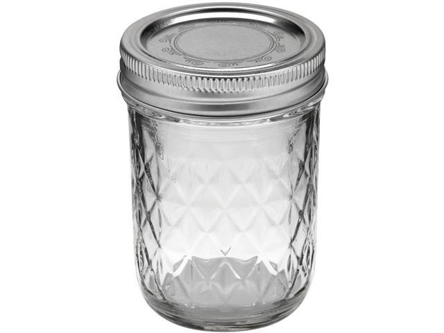 Ball Quilted Crystal Jelly Jar-8oz