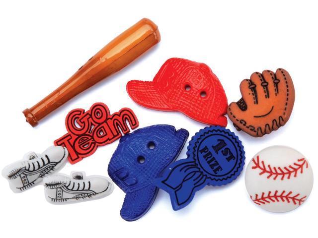 Favorite Findings Buttons-Baseball 8/Pkg
