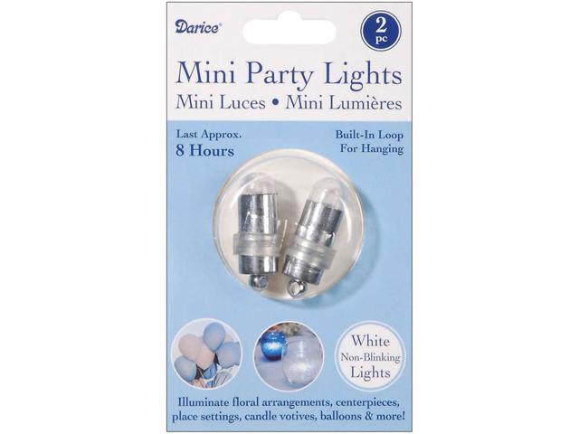 Non-Blinking Mini Party Lites 2/Pkg-White