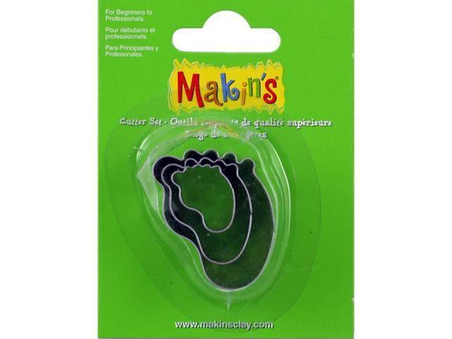 Makin's Clay Cutters 3/Pkg-Baby Foot