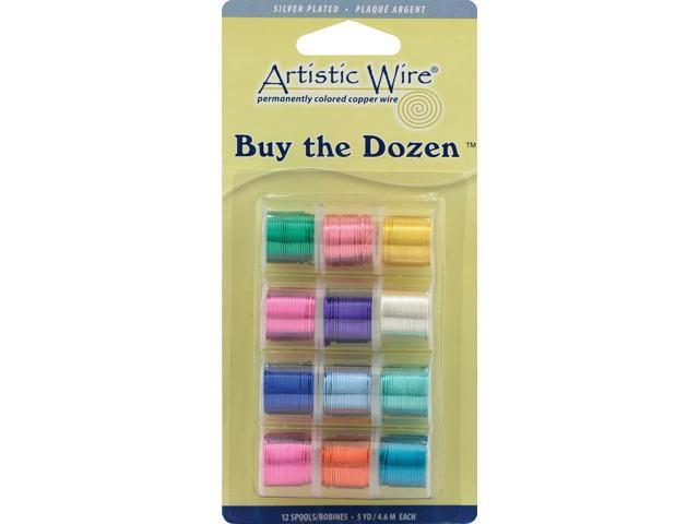 Artistic Wire Buy-The-Dozen Silver-Plated 3yd 12/Pkg-24 Gauge
