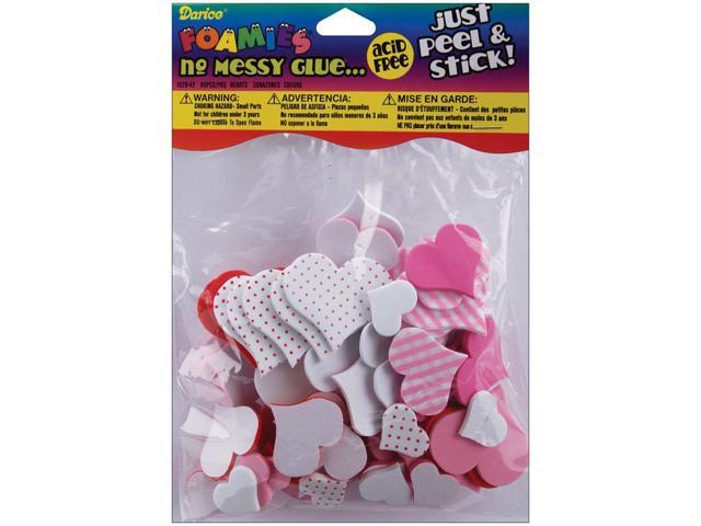 Foam Stickers 90/Pkg-Valentine Hearts