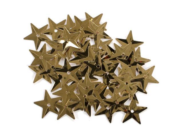 Star Sequins 18mm 50/Pkg-Gold