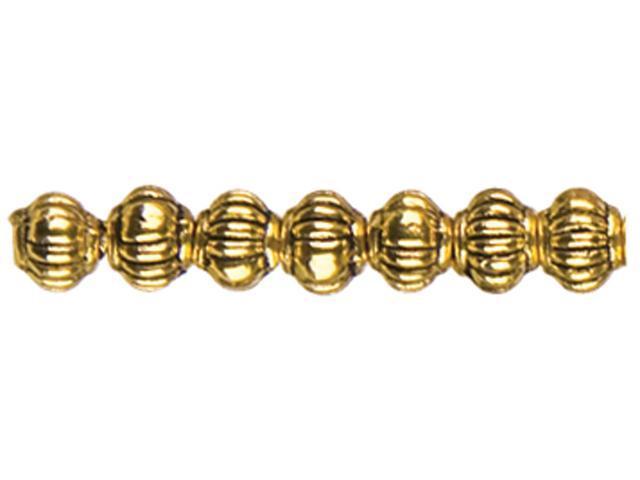 Jewelry Basics Metal Beads 5mm 45/Pkg-Gold Melon