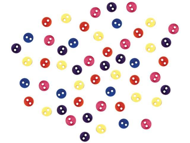 Dress It Up Embellishments-Round Buttons - Storm