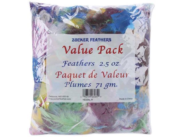 Value Pack Feathers 2.5oz-Assorted