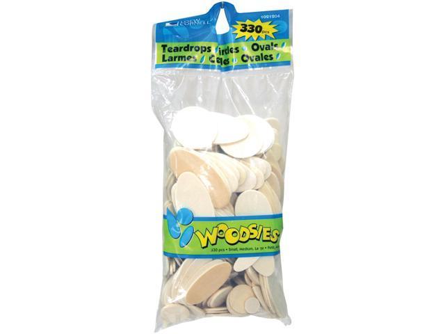Woodsies Shapes 330/Pkg-Teardrops, Circles & Ovals