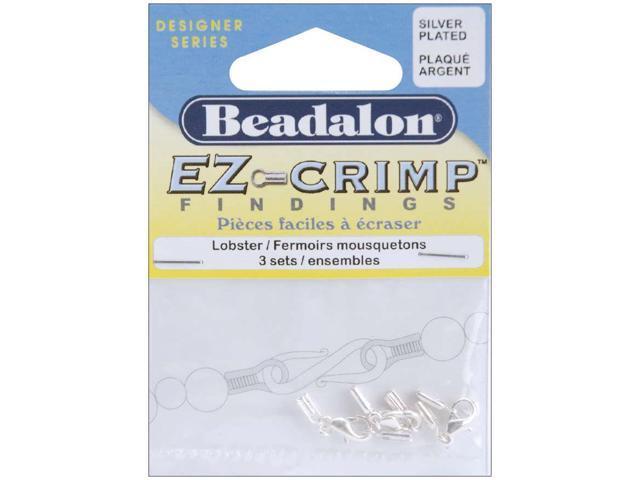 EZ Crimp Lobster Clasps 3/Pkg-Silver-Plated