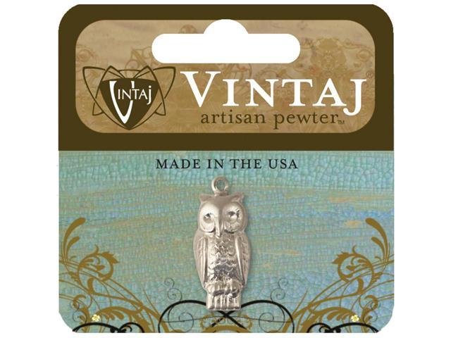 Vintaj Metal Accent-Perched Owl 23mmX10mm 1/Pkg