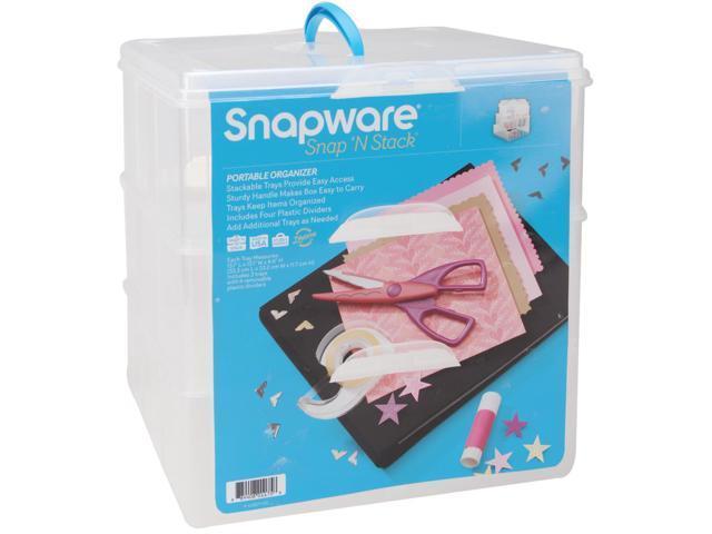 Snapware SNS6039 Snap 'n Stack Craft Organizer Large Square