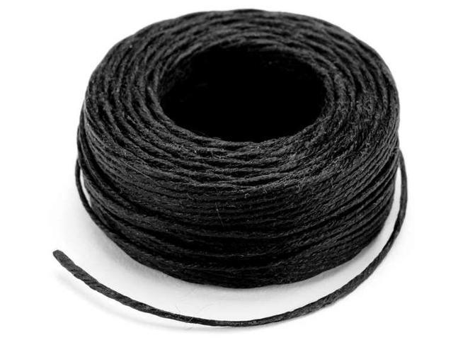 Waxed Thread 25yd-Black