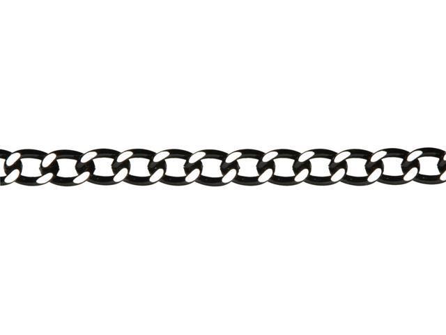 Jewelry Basics Metal Chain 1/Pkg-Black Large Curb 30