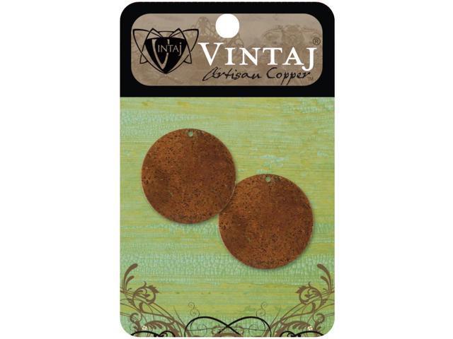 Vintaj Metal Altered Blanks-Small Circles 25.5mm 2/Pkg
