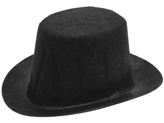 Stiffened Felt Top Hat 3.75