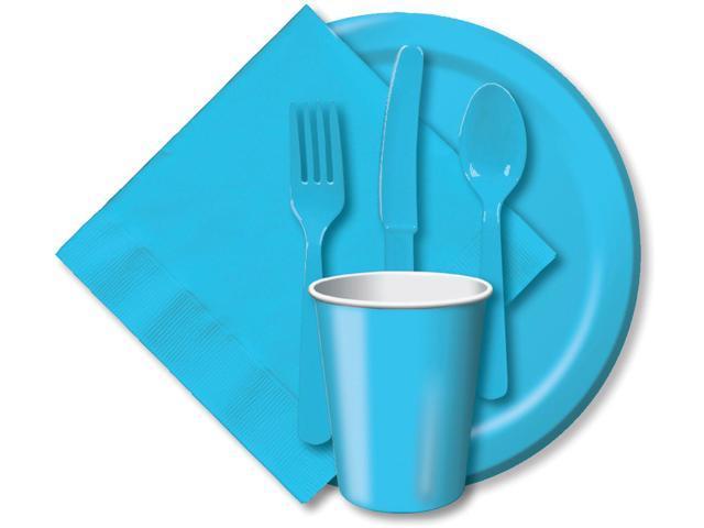Paper Hot & Cold Cups 9oz 24/Pkg-Pastel Blue