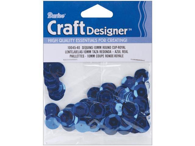 Cupped Sequins 10mm 120/Pkg-Royal Blue