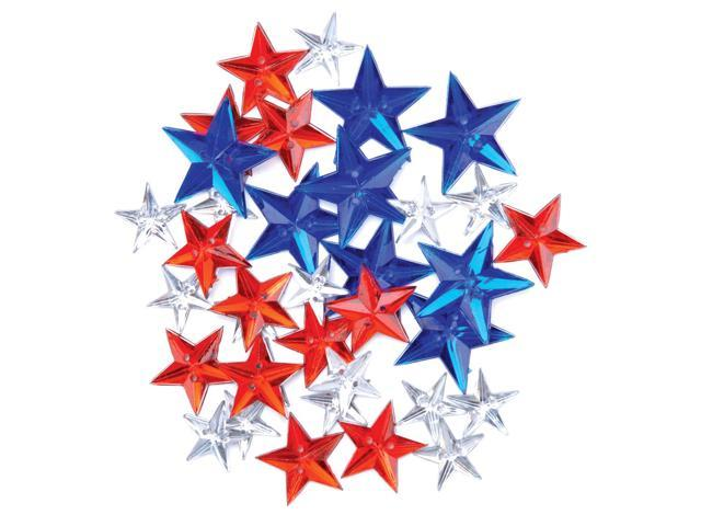 Favorite Findings Holiday Buttons-Star Gems 35/Pkg