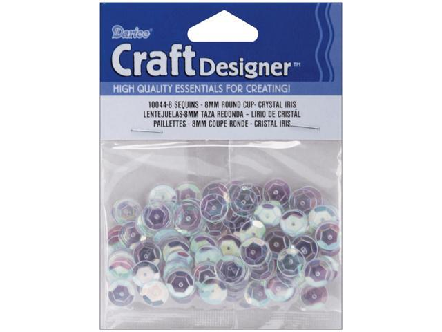 Cupped Sequins 8mm 200/Pkg-Crystal Iridescent