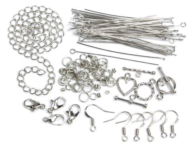 Jewelry Basics Metal Findings 134/Pkg-Silver Starter Pack