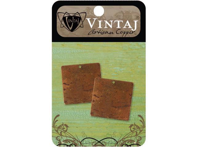 Vintaj Metal Altered Blanks-Small Squares 23.5mm 2/Pkg