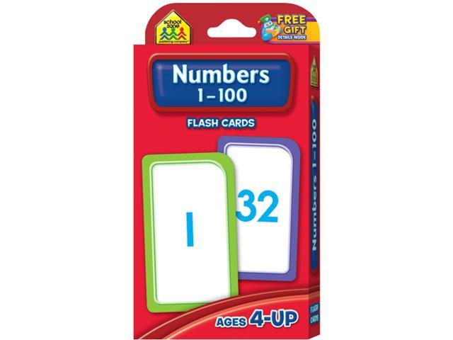 Flash Cards-Numbers 1-100 50/Pkg