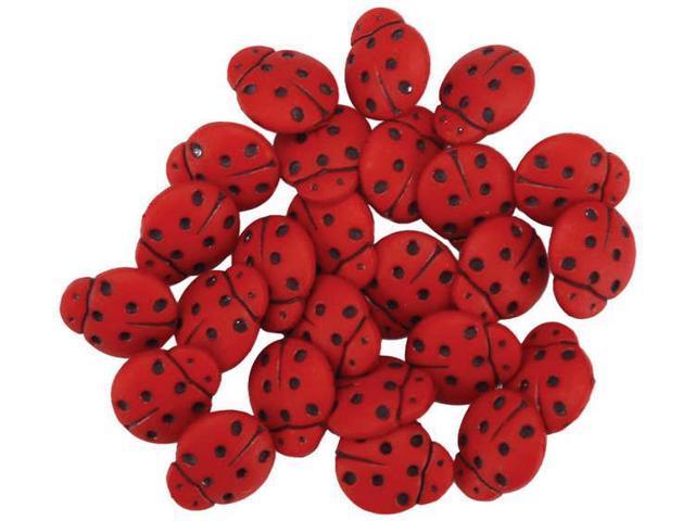 Dress It Up Embellishments-Tiny Ladybugs
