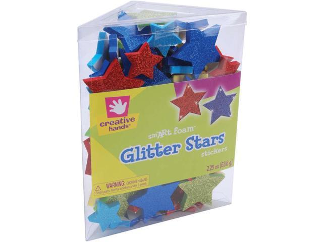 Foam Glitter Stickers 2.25oz-Stars