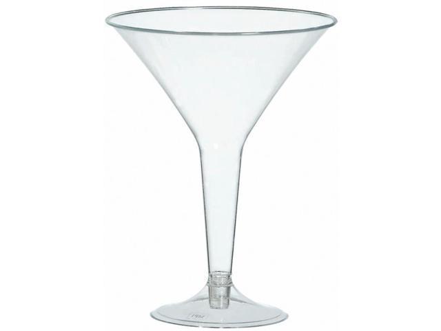 Plastic Martini Glasses 8oz 20/Pkg-Clear