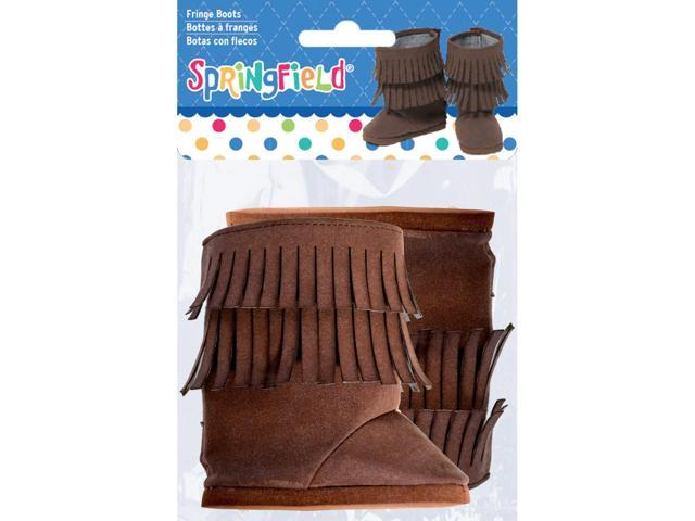 Springfield Collection Fringe Boots-Brown