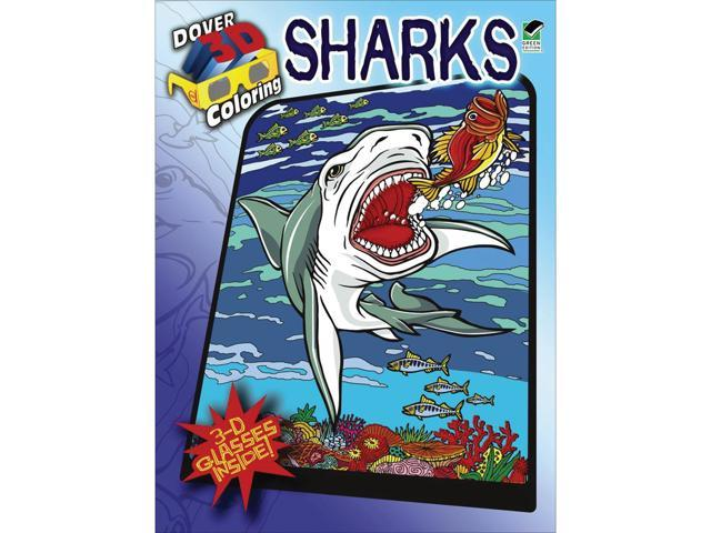 Dover Publications-Sharks Coloring Book 3D