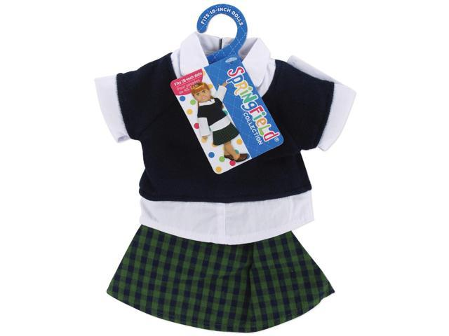 Springfield Collection Shirt & Skirt-Plaid, White & Navy