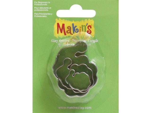 Makin's Clay Cutters 3/Pkg-Santa
