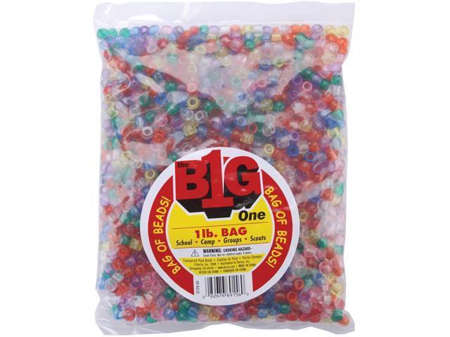 Pony Beads 6mmX9mm 1lb-Transparent Multicolor