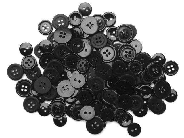 Favorite Findings Buttons 130/Pkg-Black