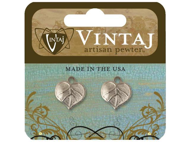 Vintaj Metal Accents-Nouveau Leaves 14mmX12mm 2/Pkg