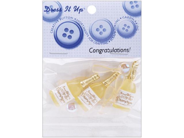 Dress It Up Embellishments-Congratulations!
