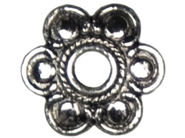 Jewelry Basics Metal Beads 15mm 28/Pkg-Silver Flower Cap