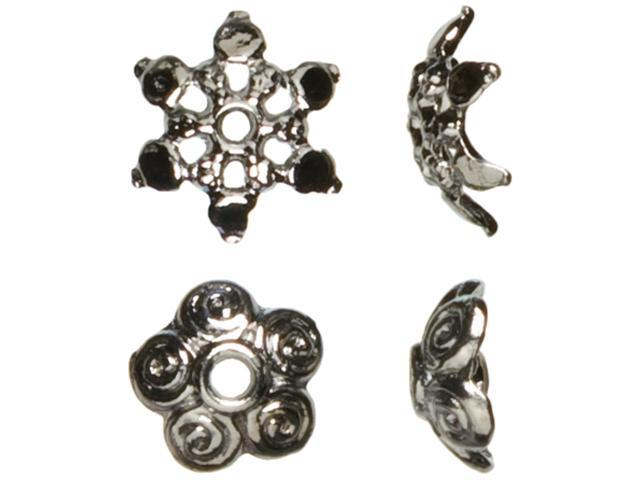 Jewelry Basics Metal Beads 10mm 44/Pkg-Gunmetal Mixed Cap
